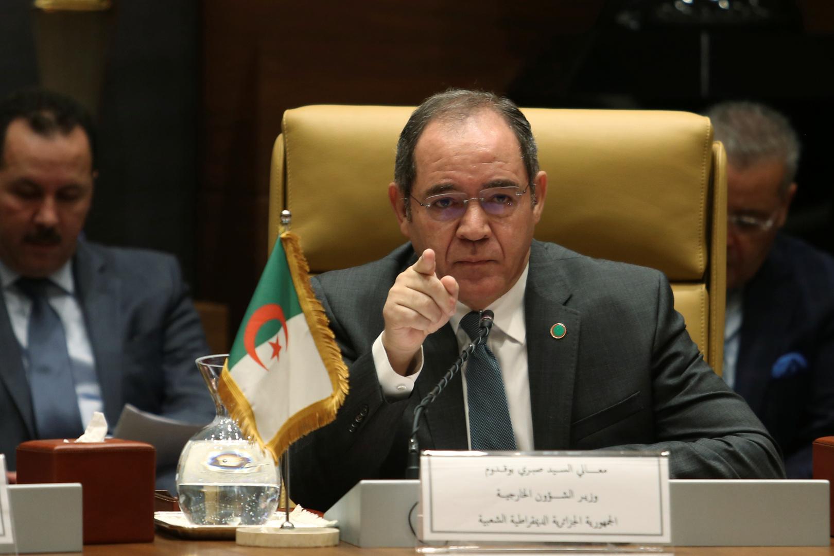 وزير الشؤون الخارجية الجزائري صبري بوقادوم.