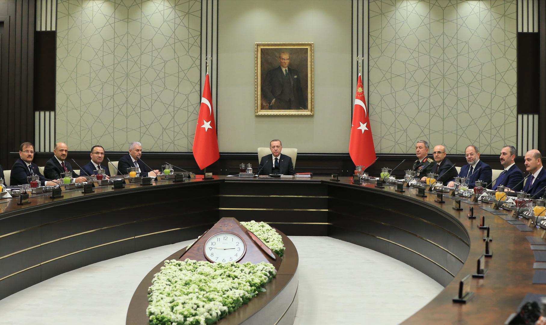 اجتماع لمجلس الأمن القومي التركي برئاسة رجب طيب أردوغان (صورة من الأرشيف)