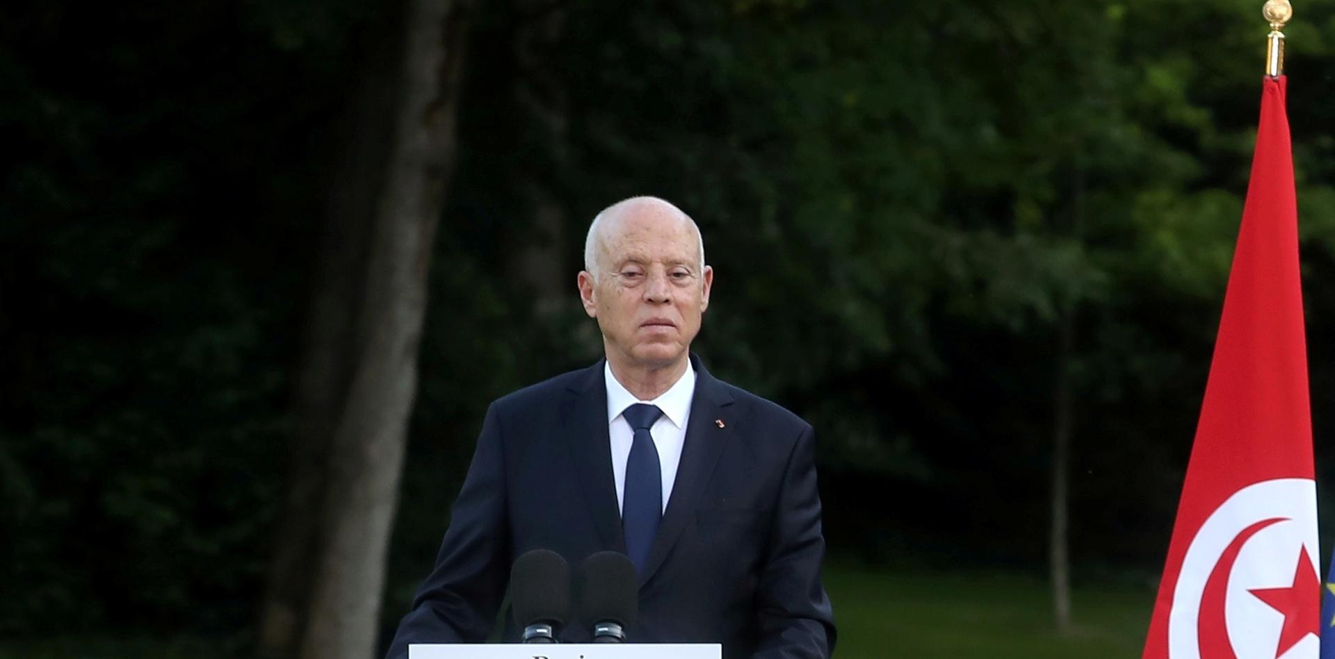 رئيس الجمهورية التونسية قيس سعيّد.