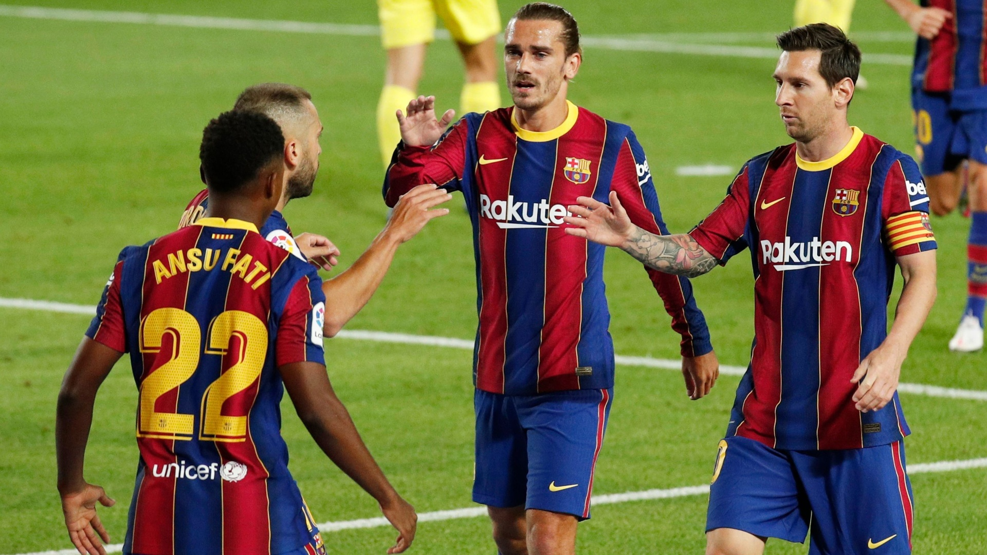 بالفيديو.. برشلونة يبدأ عصر كومان بعرض عضلاته أمام فياريال
