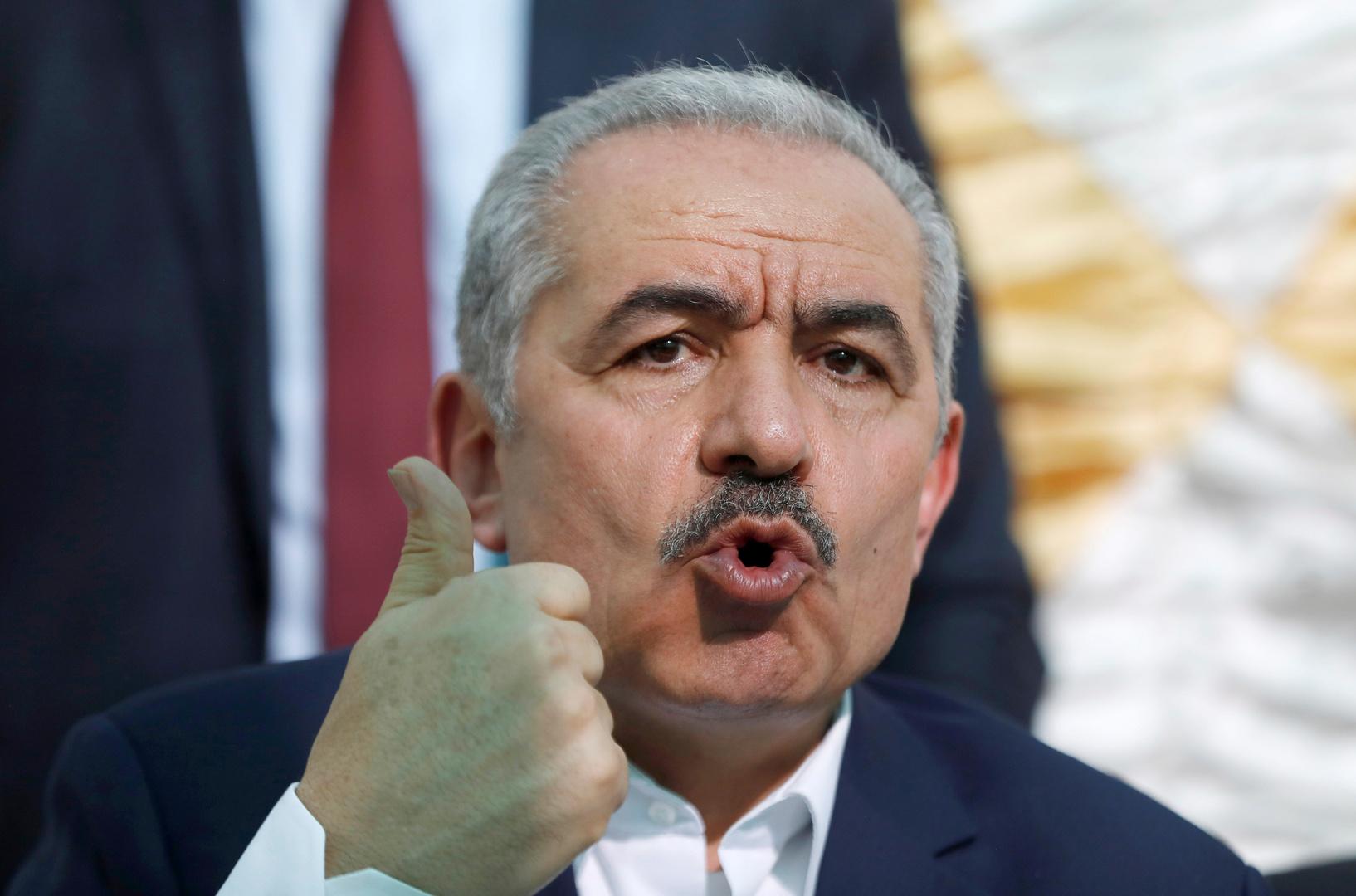 رئيس وزراء السلطة الفلسطينية محمد إشتية.