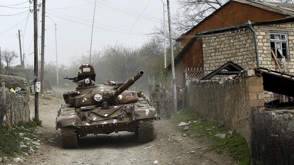 دبابة تابعة لقوات دفاع قره باغ (صورة أرشيفية)