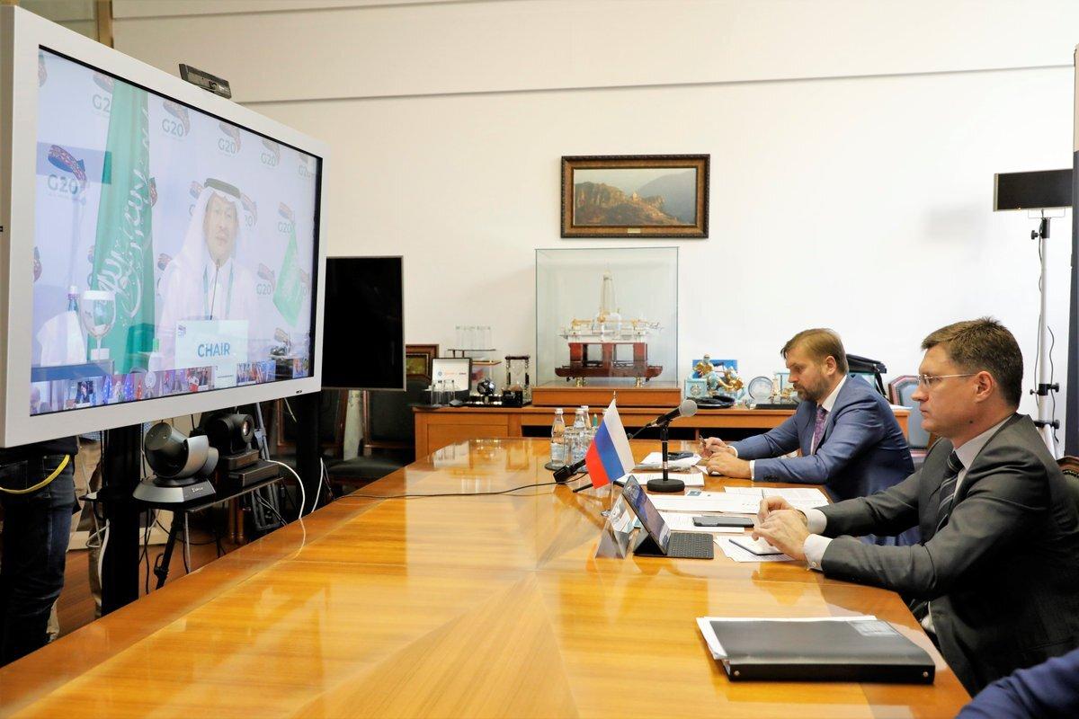 وزير الطاقة الروسي ألكسندر نوفاك يشارك في الاجتماع الوزاري لمجموعة العشرين