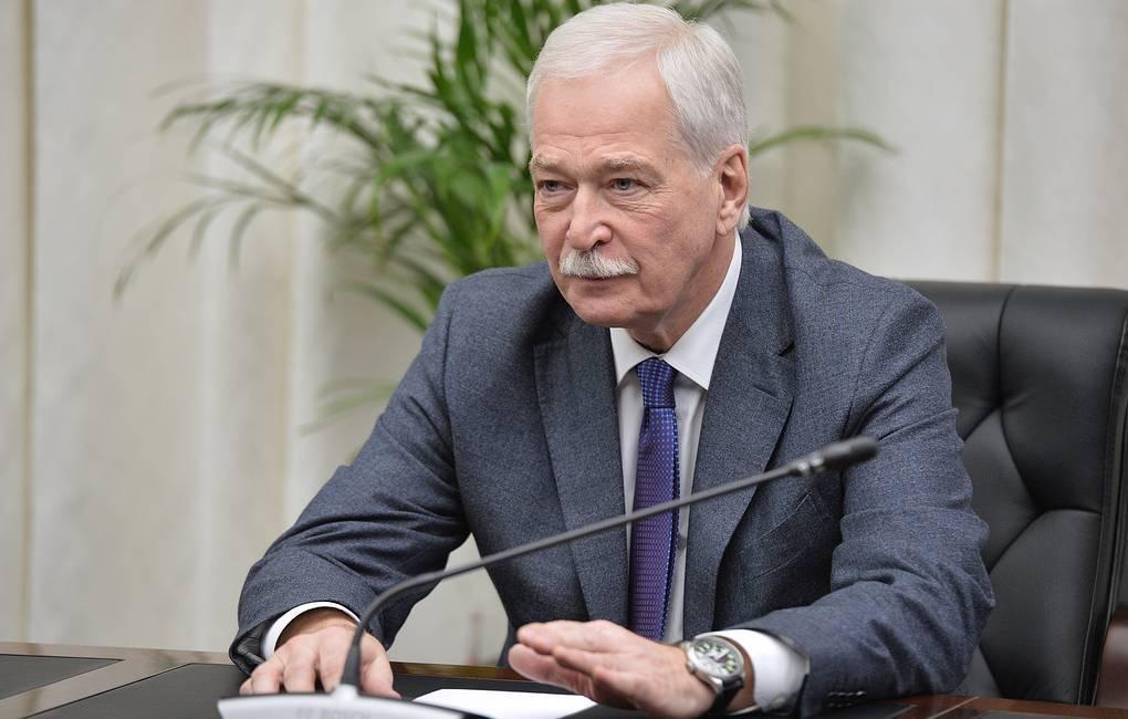 بوريس غريزلوف، المفوض الروسي في مجموعة الاتصال الخاصة بتسوية النزاع في منطقة دونباس بشرق أوكرانيا