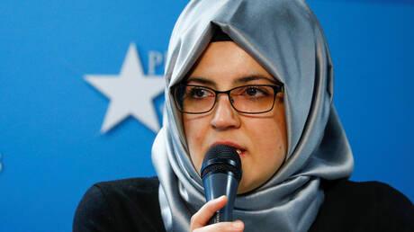 خديجة جنكيز، خطيبة الإعلامي السعودي، جمال خاشقجي، الذي قتل في قنصلية بلاده باسطنبول التركية عام 2018.
