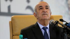 الرئيس الجزائري: لن نشارك ولن نبارك