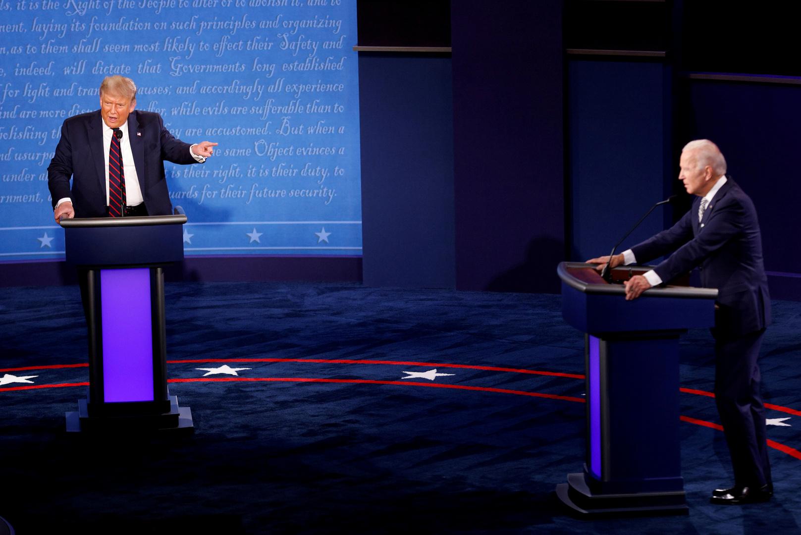 ترامب وبايدن يكشفان انطباعاتهما عن أول مناظرة بينهما!