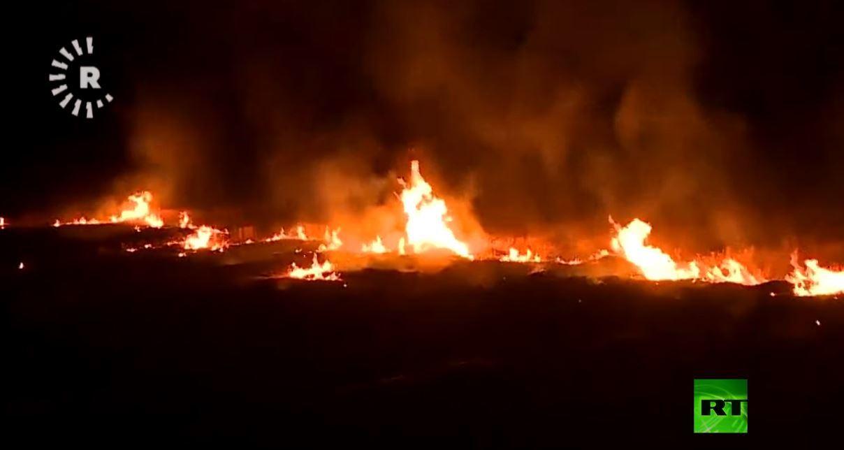 سقوط قذائف هاون في محيط مطار أربيل الدولي شمالي العراق