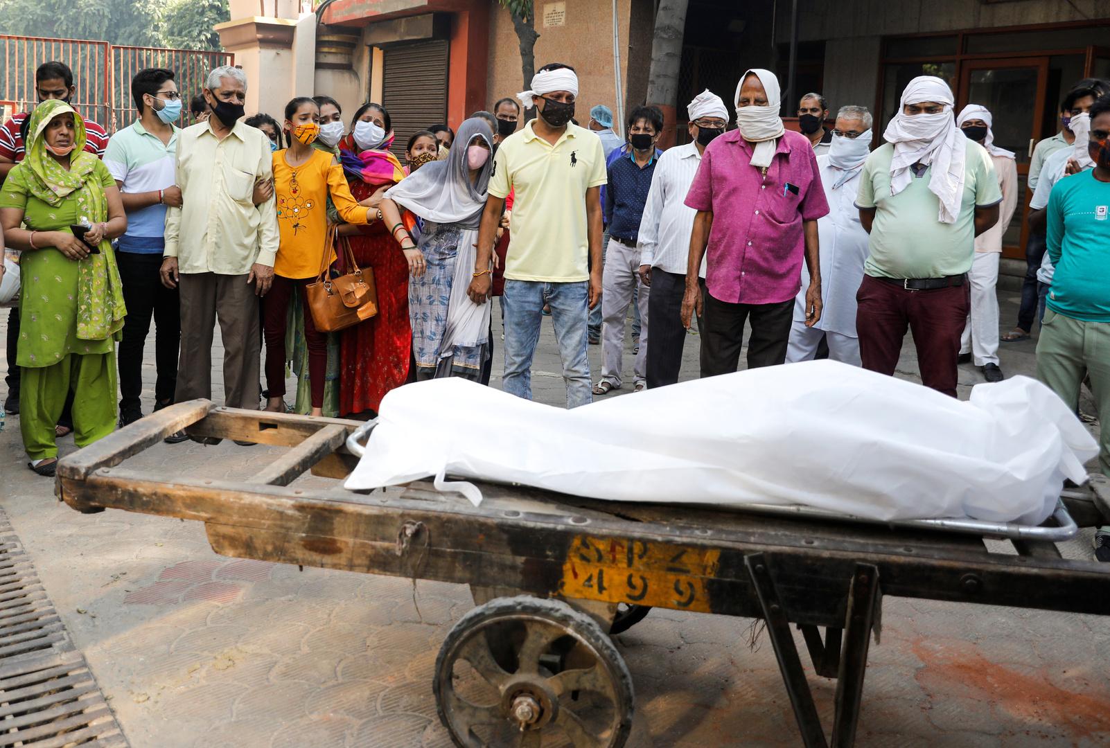 الهند تسجل 6.39 مليون إصابة بكورونا
