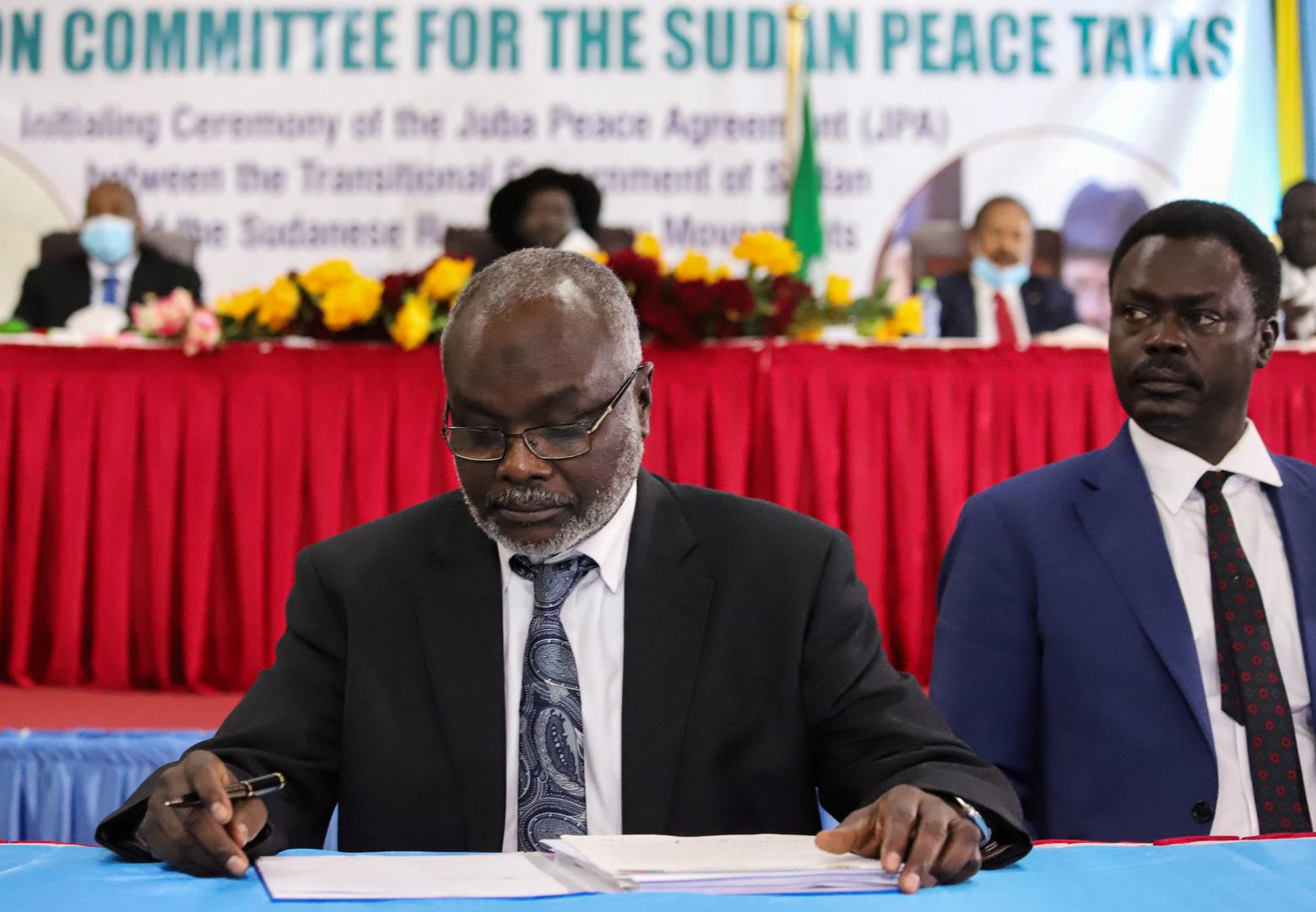 الحكومة السودانية توقع في جوبا اتفاق السلام النهائي مع