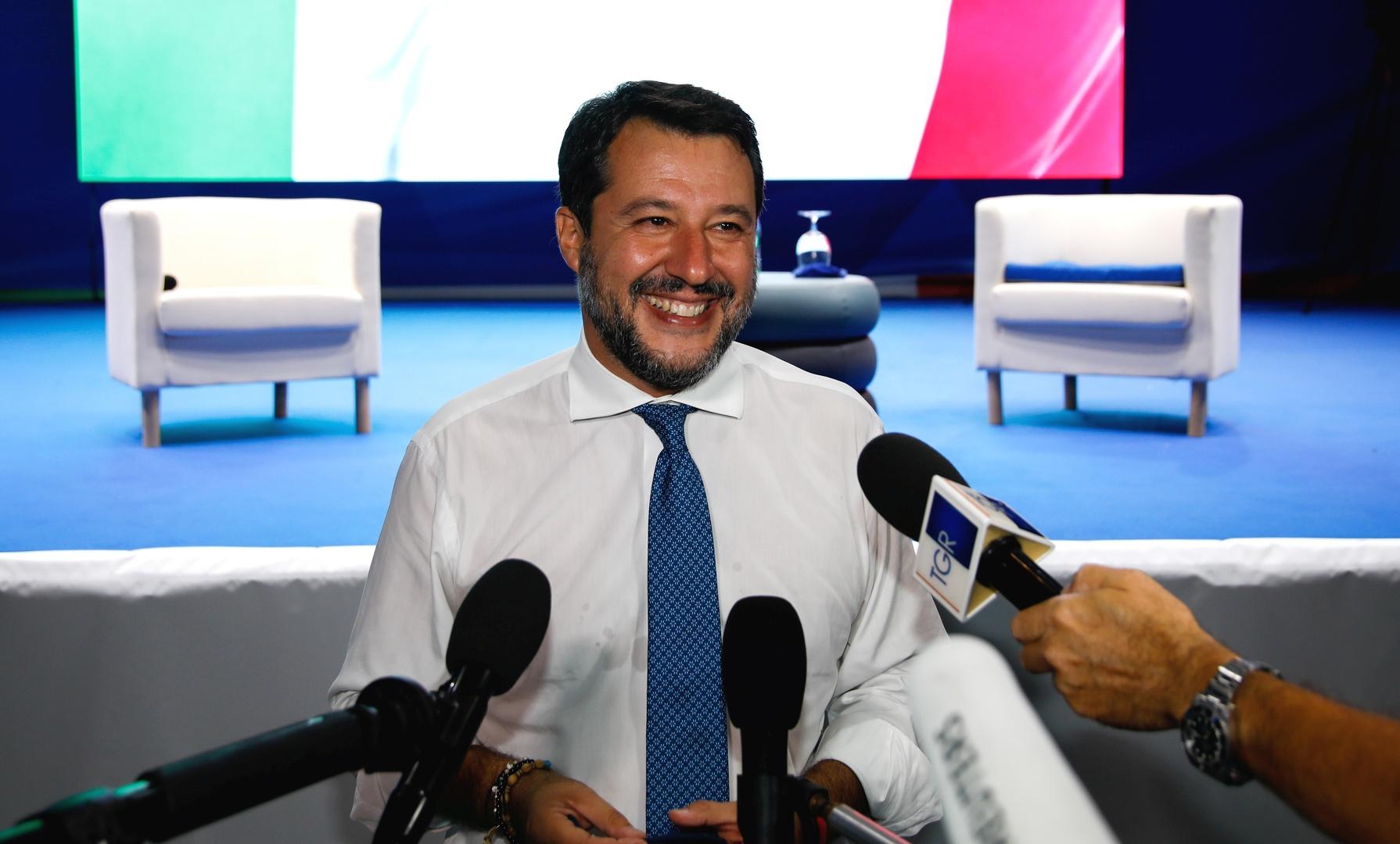 وزير الداخلية الإيطالي الأسبق اليميني المتطرف ماتيو سالفيني.