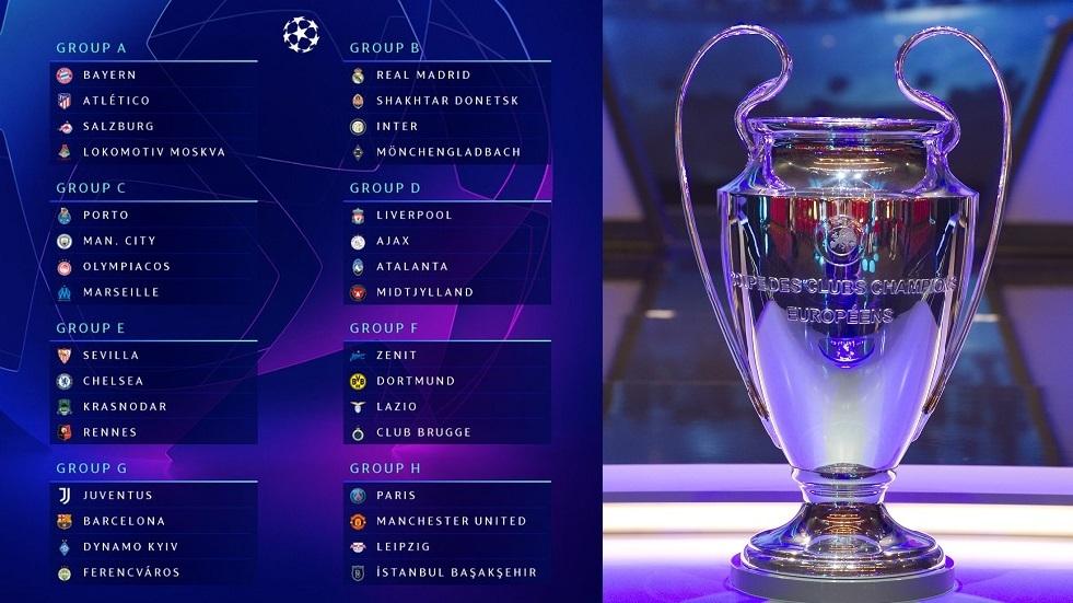 بالتفصيل.. مواعيد وتوقيت مباريات دور المجموعات لدوري أبطال أوروبا
