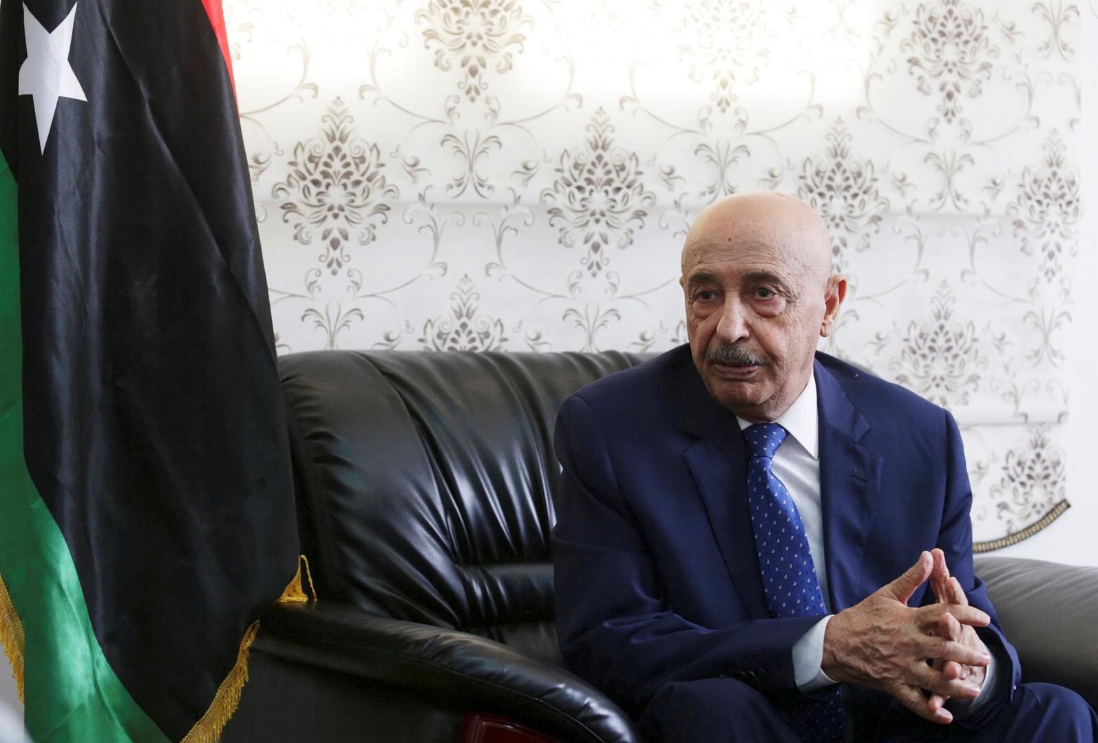 عقيلة صالح في مصر للقاء السفير الأمريكي