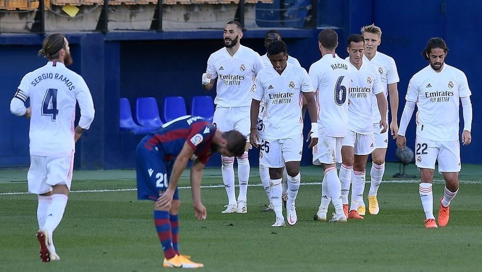 ريال مدريد ينجز مهمته أمام ليفانتي (فيديو)