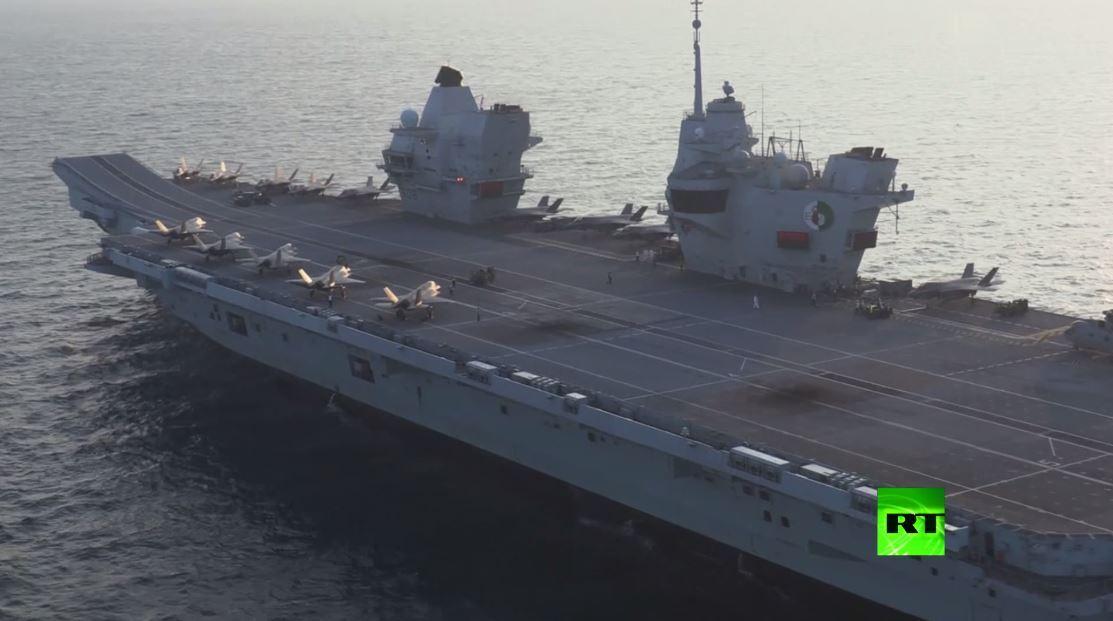 حاملة طائرات بريطانية تشارك في مناورات مع القوات الأمريكية