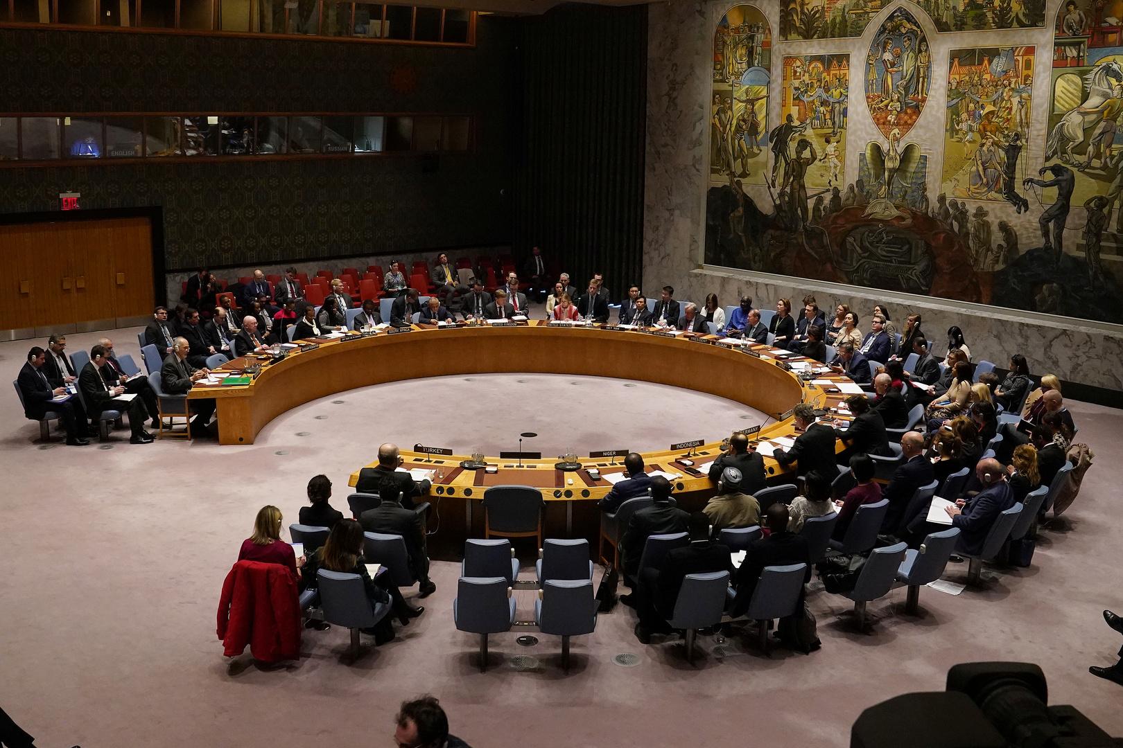 جلسة لمجلس الأمن حول سوريا.