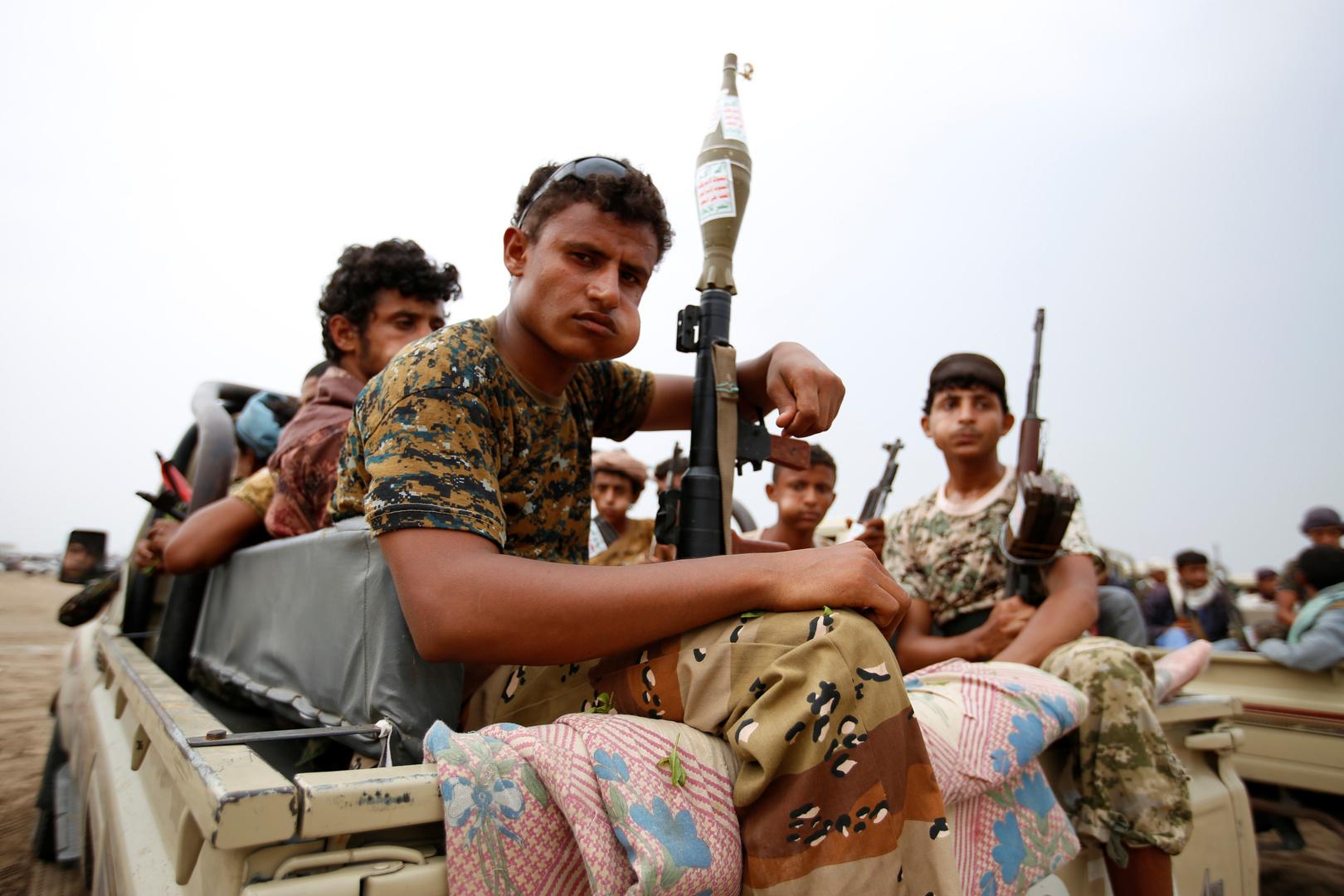 عناصر لجماعة الحوثيين في الحديدة - صورة أرشيفية