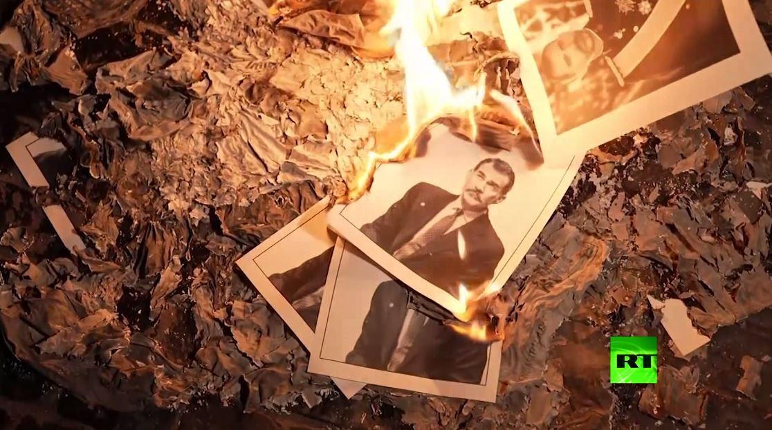 إحراق صور الملك فيليب السادس في برشلونة