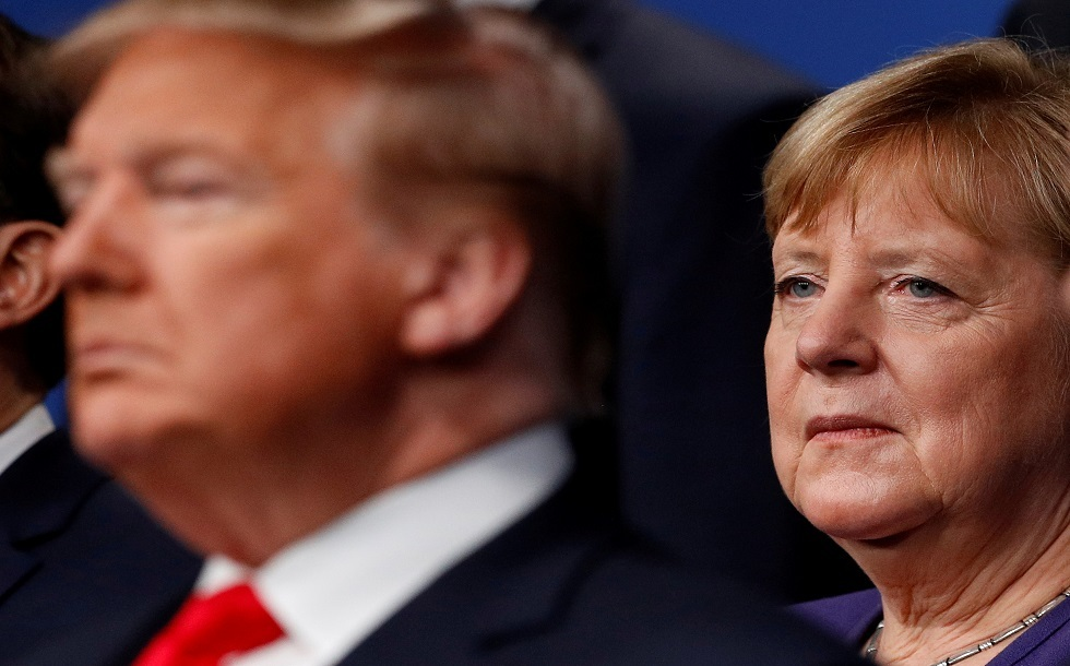 المستشار الألمانية أنغيلا ميركل والرئيس الأمريكي دونالد ترامب
