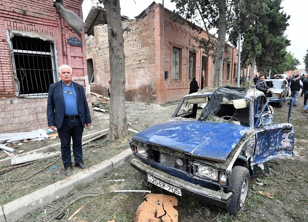 أذربيجان تتهم أرمينيا بقصف مدينة كنجة ويريفان تنفي