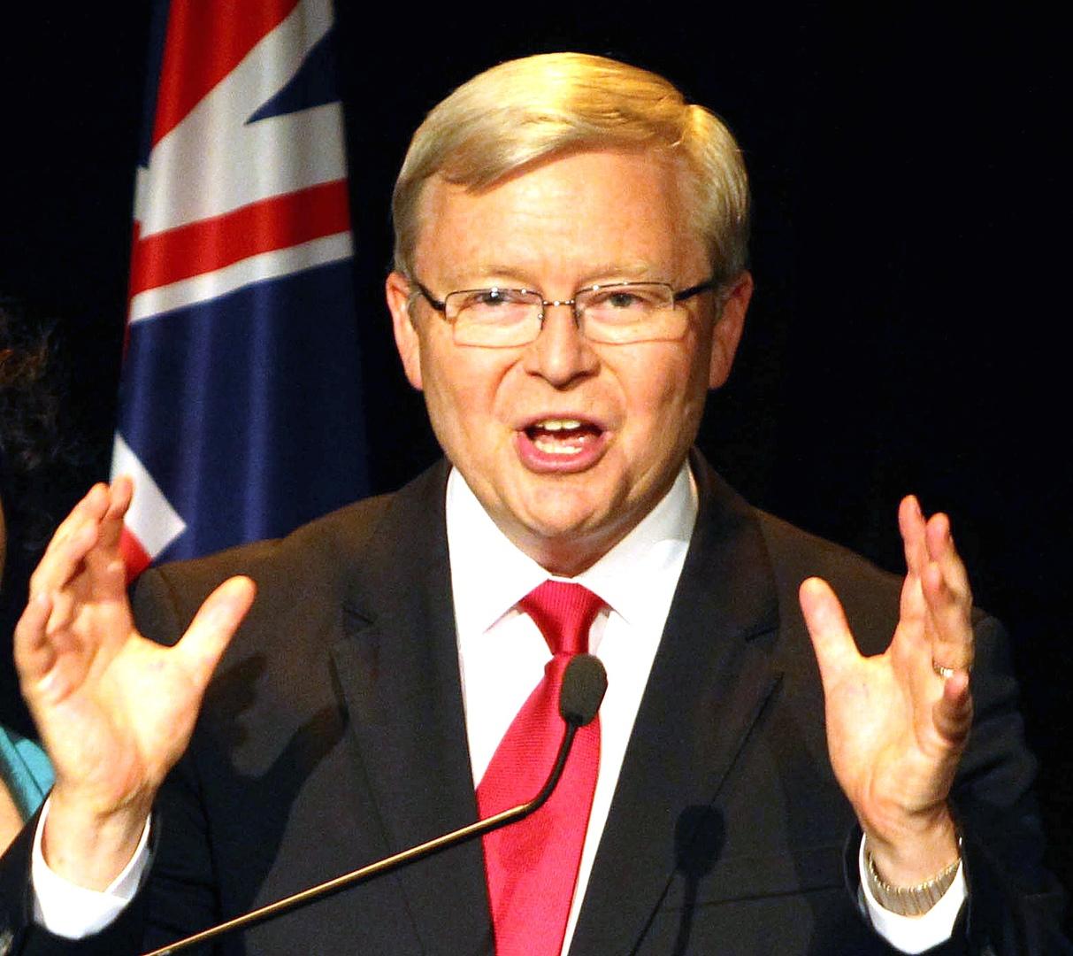 رئيس الوزراء الأسترالي السابق كيفن راد
