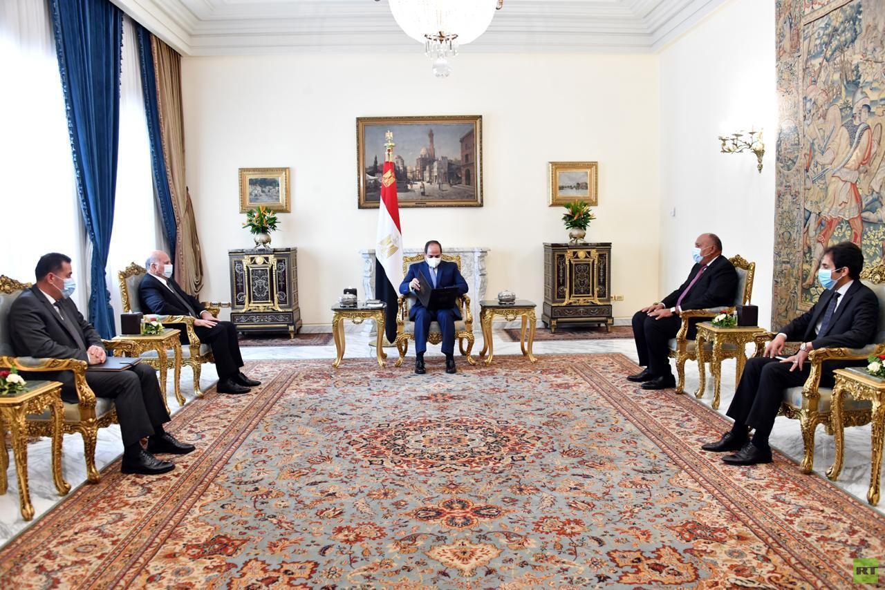 وزير الخارجية العراقي يعرض على السيسي موضوعات اللقاء الوزاري العربي