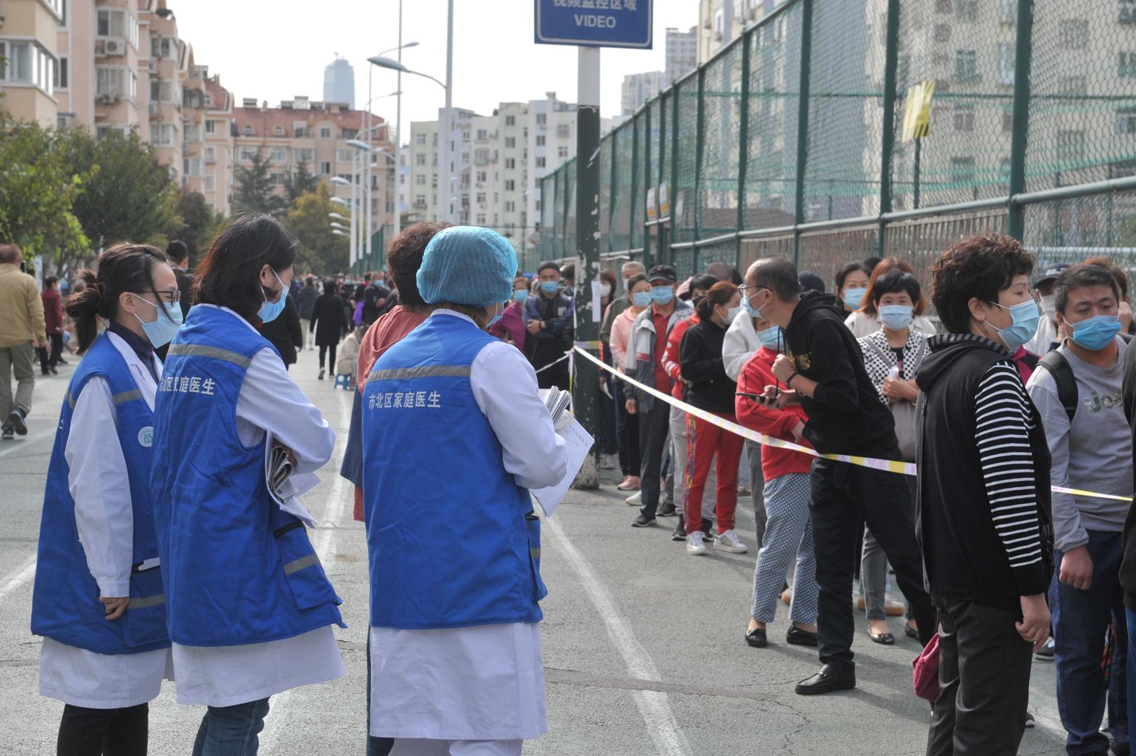 الصين تفحص أكثر من 9 ملايين شخص بعد اكتشاف 6 إصابات بكوفيد-19