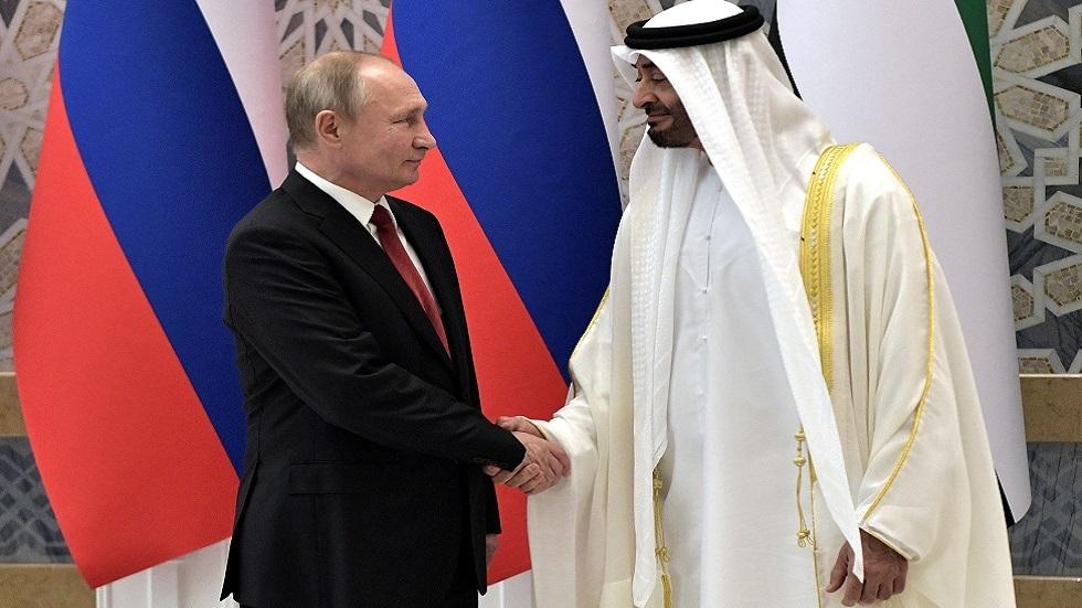 الكرملين: بوتين يتلقى اتصالا هاتفيا من ولي عهد أبو ظبي محمد بن زايد