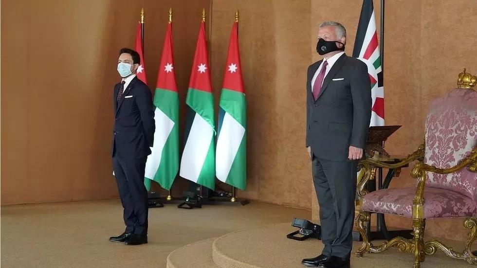 العاهل الأردني وولي عهده