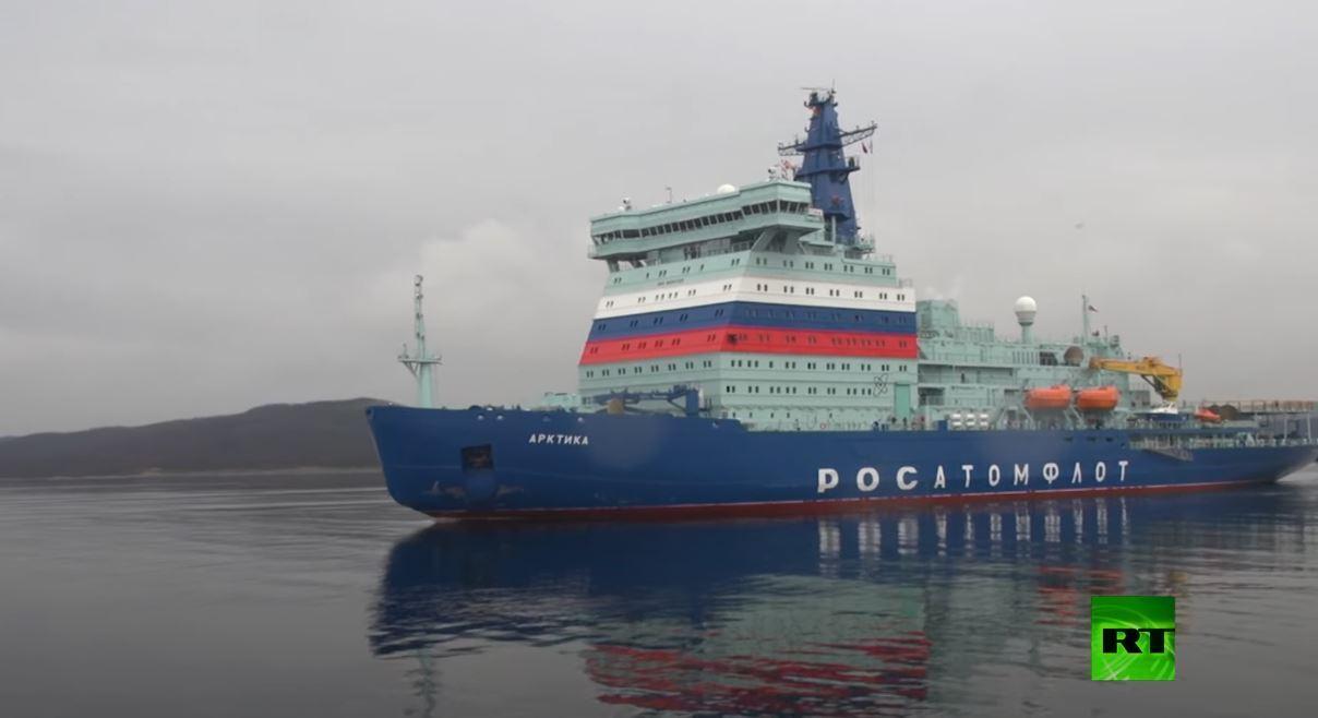 كاسحة الجليد النووية الروسية الجديدة تختتم اختباراتها