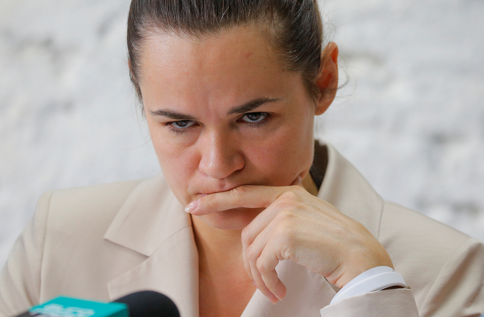 المرشحة السابقة لرئاسة بيلاروس، سفيتلانا تيخانوفسكايا