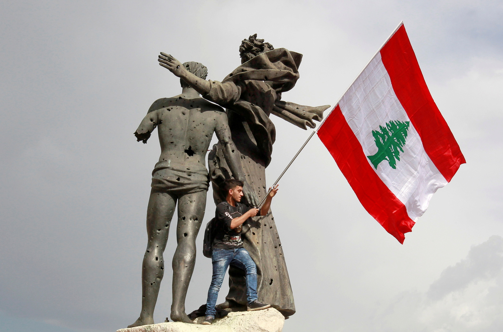 لبنان.. احتفال بالذكرى الأولى لثورة