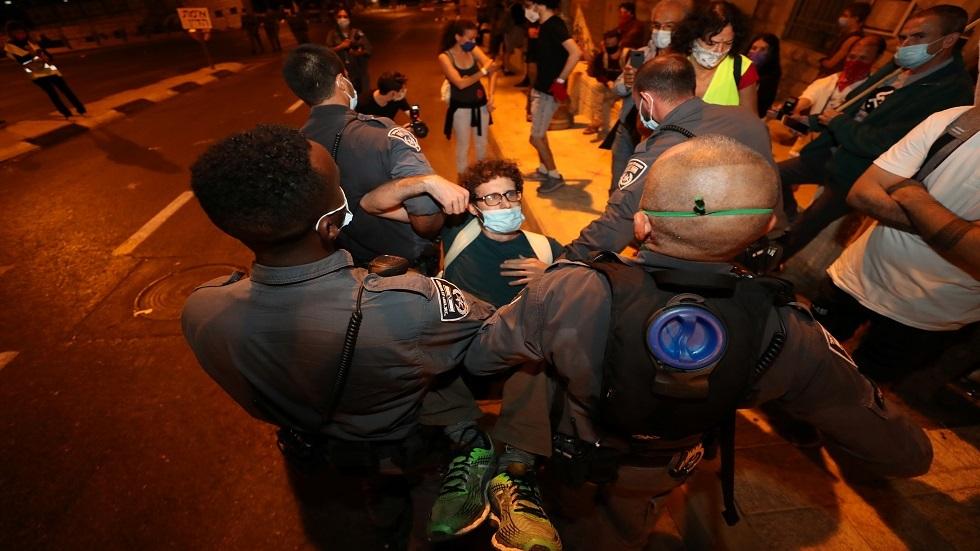 الشرطة الإسرائيلية تعتقل 9 متظاهرين في القدس  ضد نتنياهو
