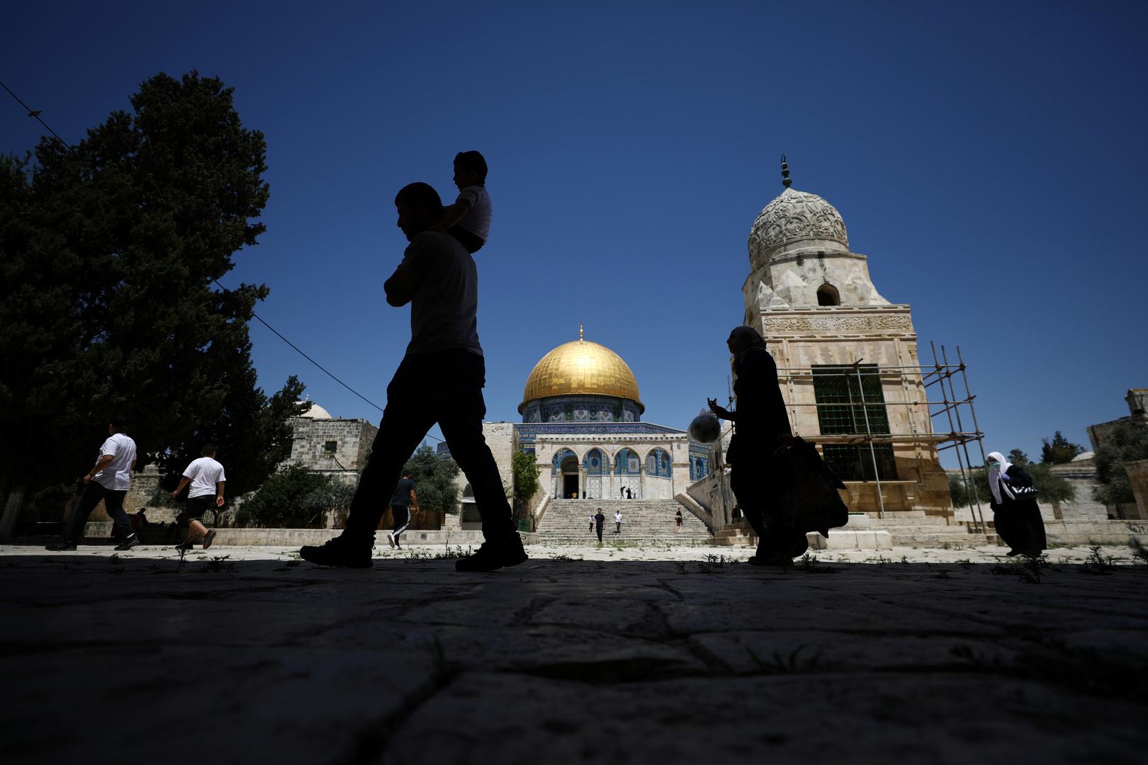قبة الصخرة والمسجد الأقصى.