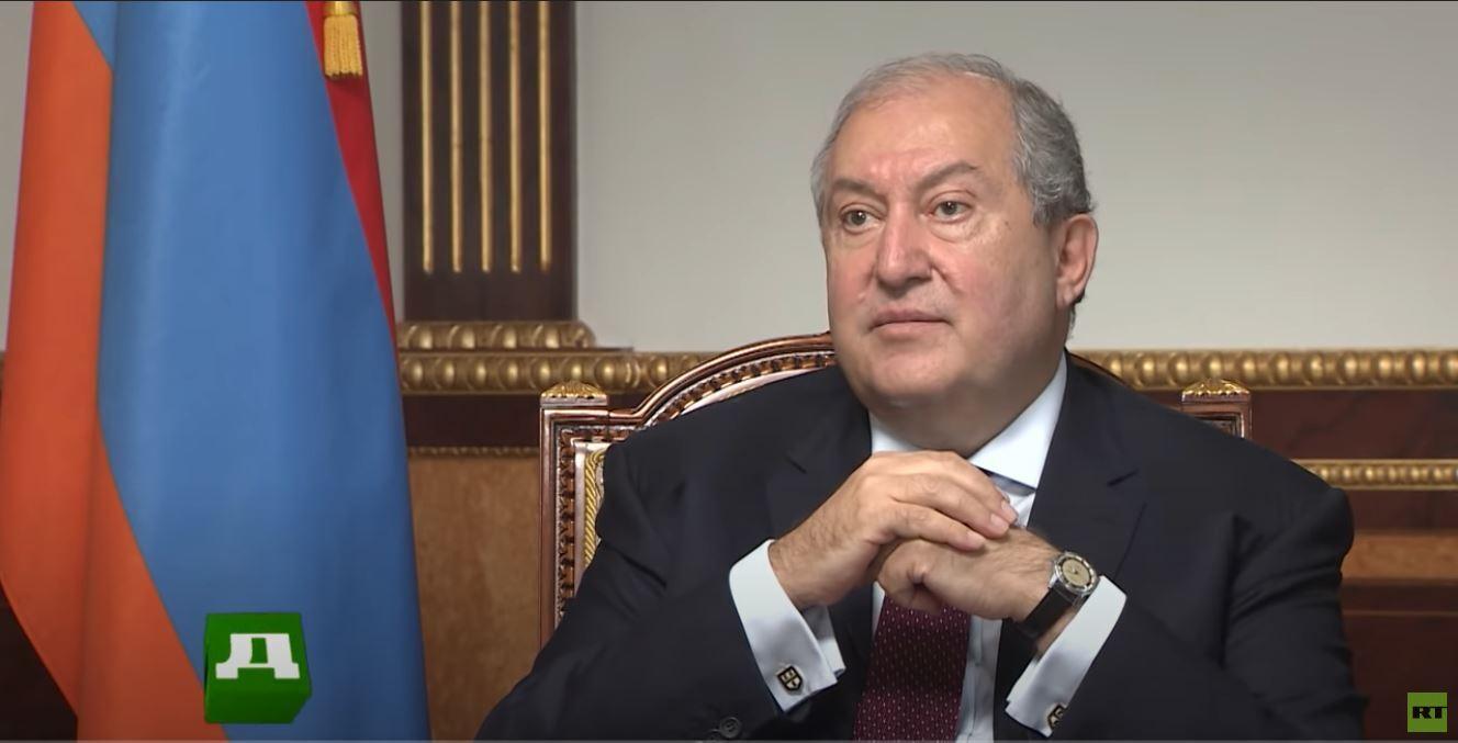 رئيس أرمينيا يناشد الاتحاد الأوروبي والناتو لـ