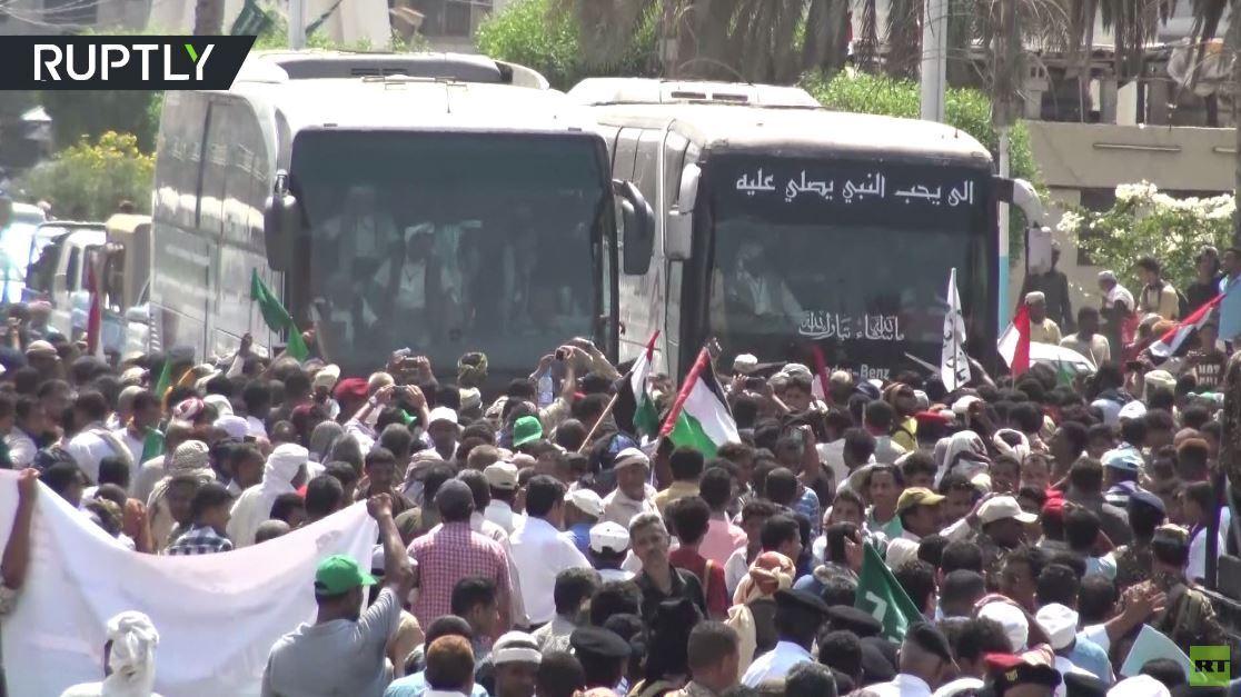 مراسم استقبال للأسرى الحوثيين المحررين