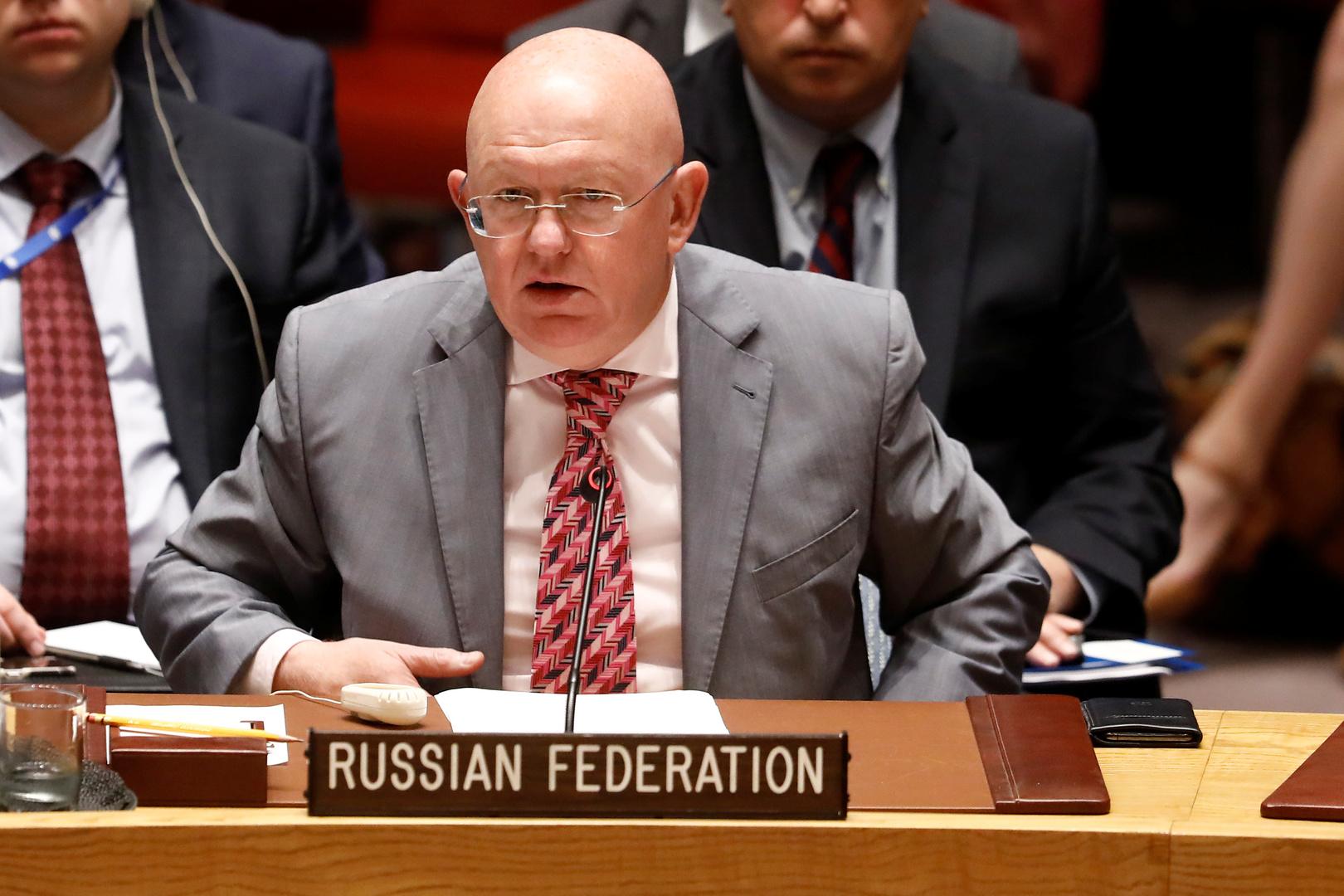 مندوب روسيا الدائم لدى الأمم المتحدة، فاسيلي نيبينزيا.