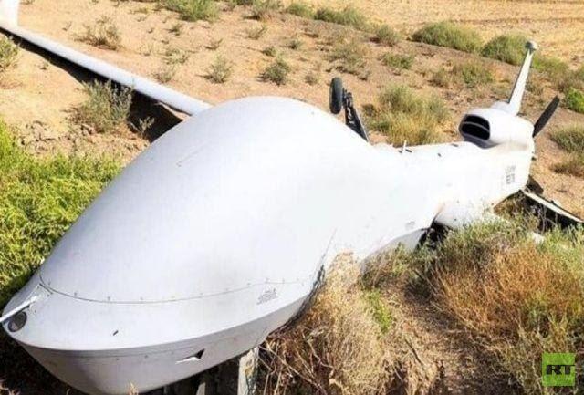 سقوط طائرة مسيرة في إيران نتيجة المعارك في قره باغ (صورة)