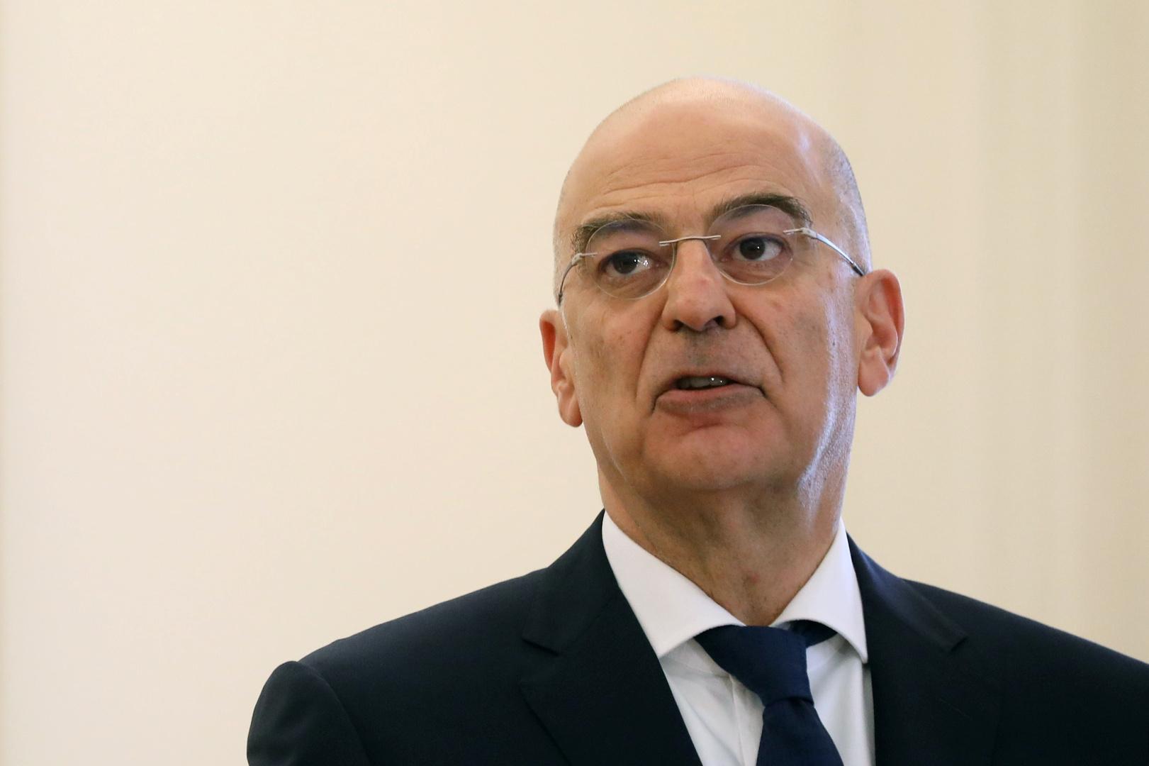 وزير الخارجية اليوناني، نيكوس ديندياس