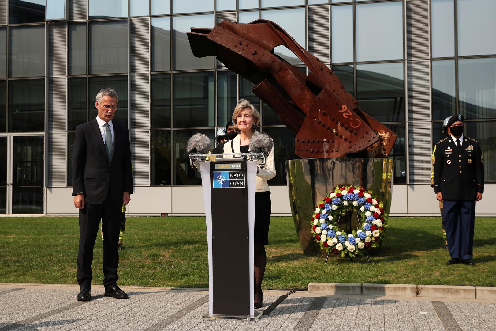 المندوبة الأمريكية لدى حلف الناتو، كي بيلي هاتشيسون.