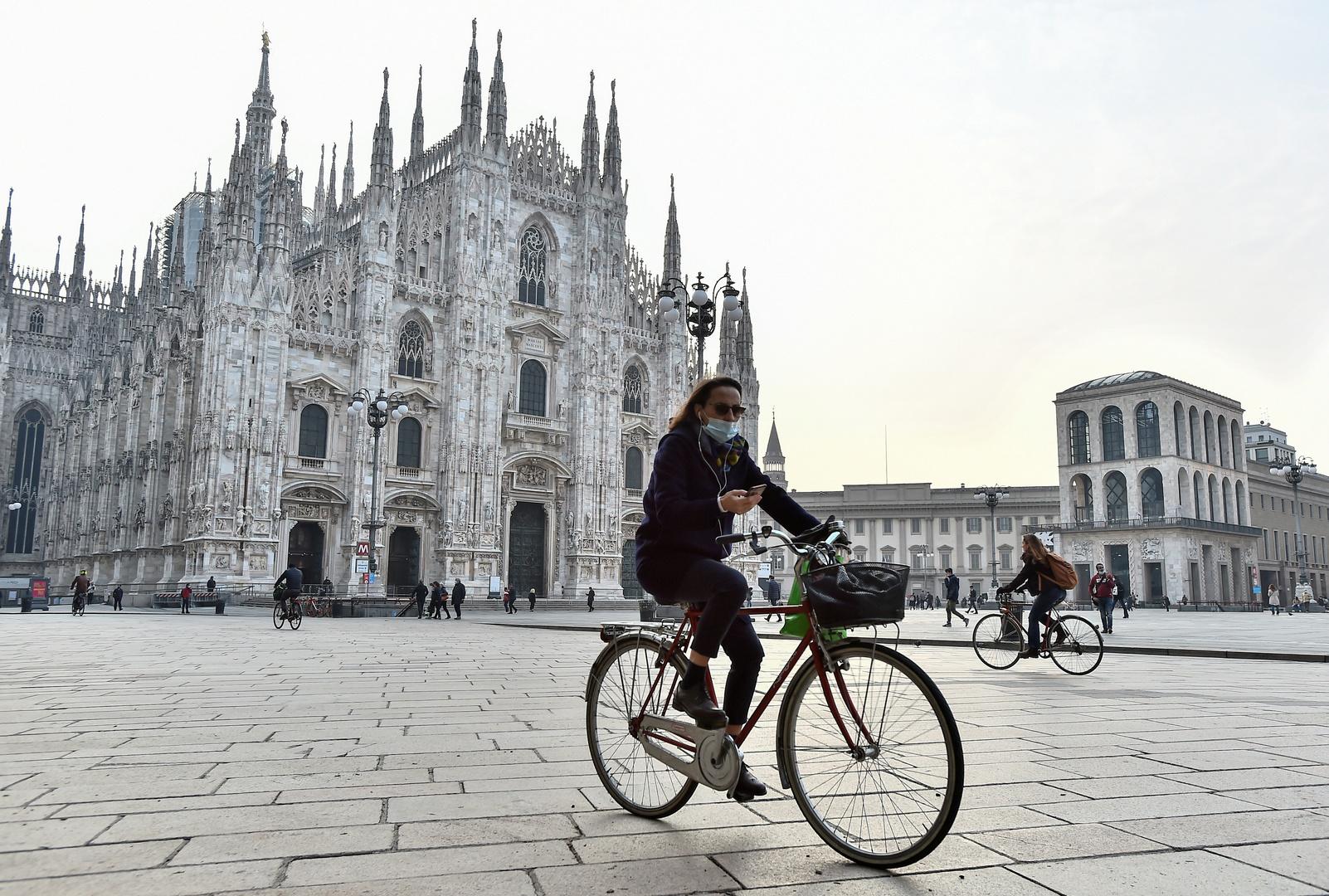 مدينة ميلانو الإيطالية في زمن جائحة فيروس كورونا.
