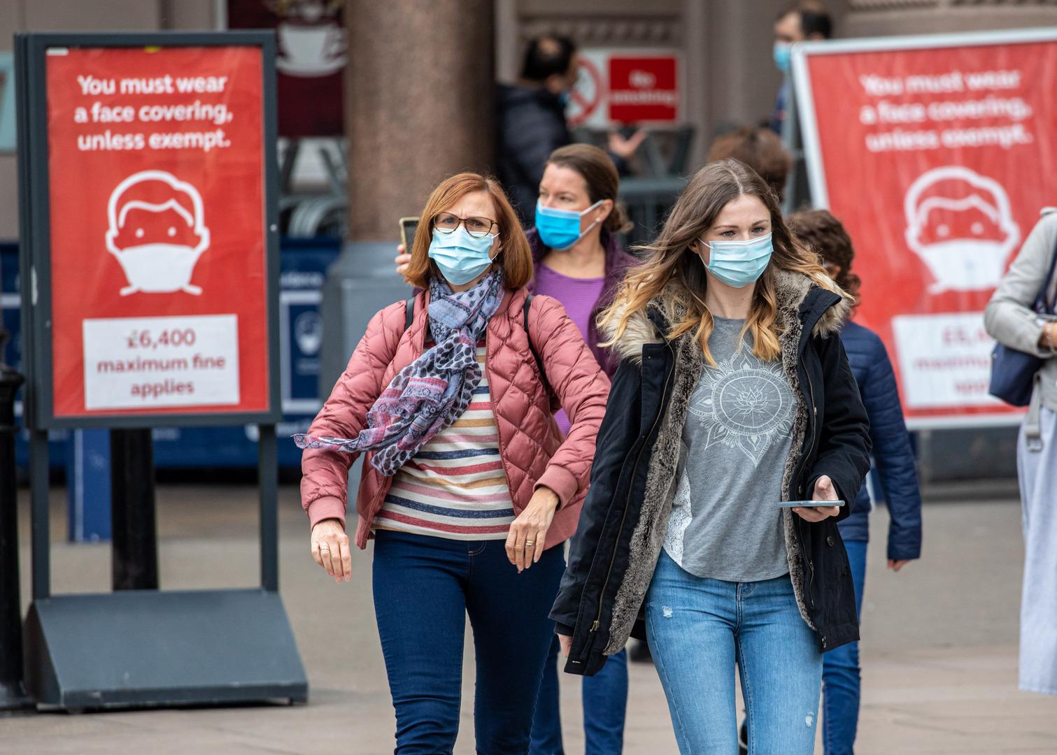 بريطانيا تسجل انخفاضا طفيفا في إصابات كورونا اليومية