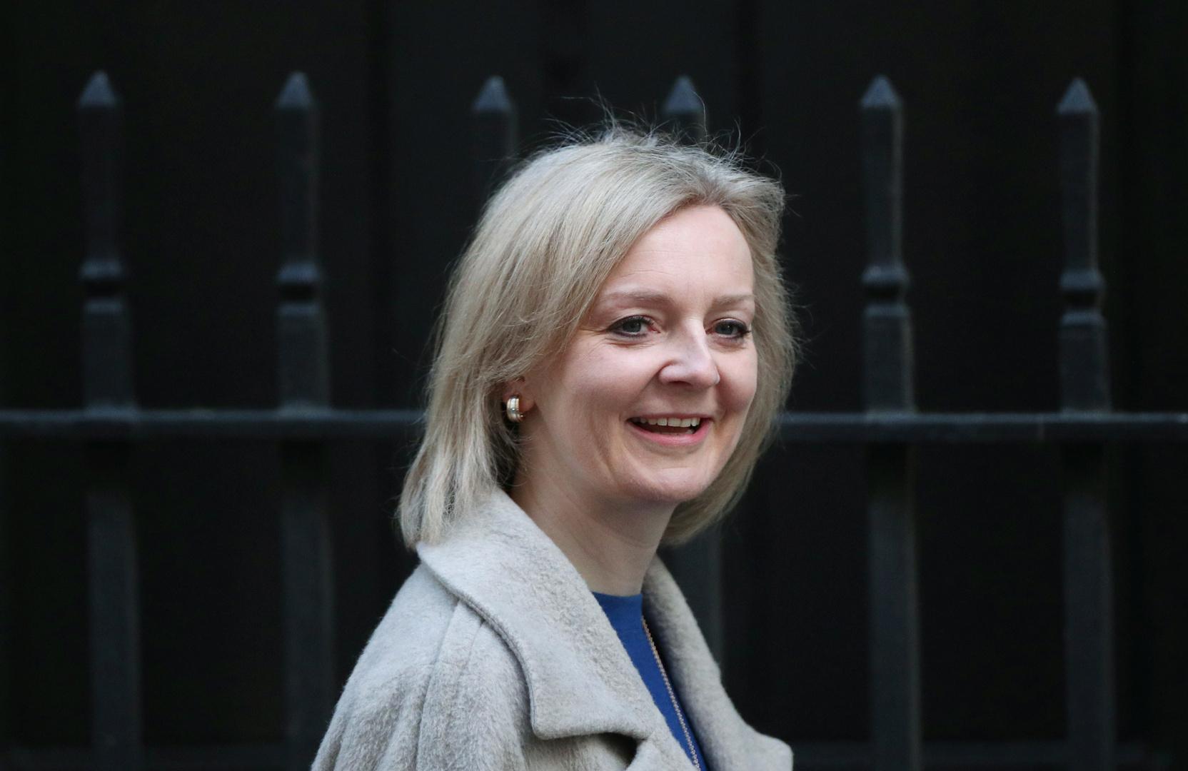 وزيرة التجارة البريطانية ليز تروس