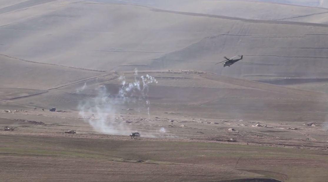 مناورات.. مروحيات مي-24 تغطي زحف القوات الروسية في طاجيكستان