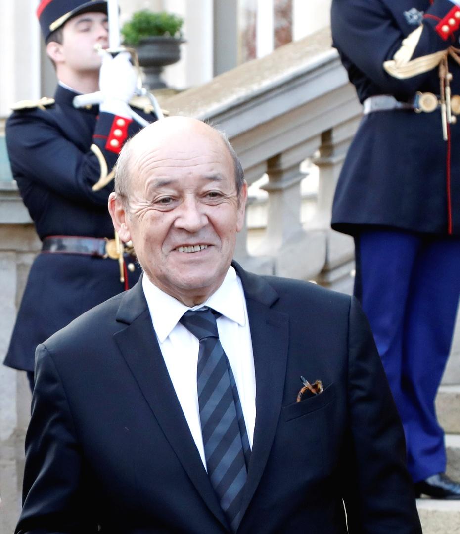 إيف لودريان وزير الشؤون الخارجية الفرنسي.