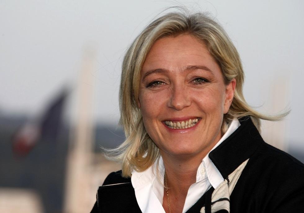 زعيمة حزب التجمع الوطني الفرنسي مارين لوبان
