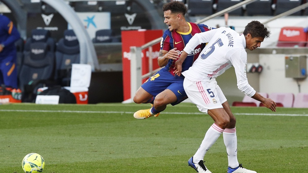 برشلونة يعلن إصابة كوتينيو وغيابه عن قمة يوفنتوس في دوري الأبطال