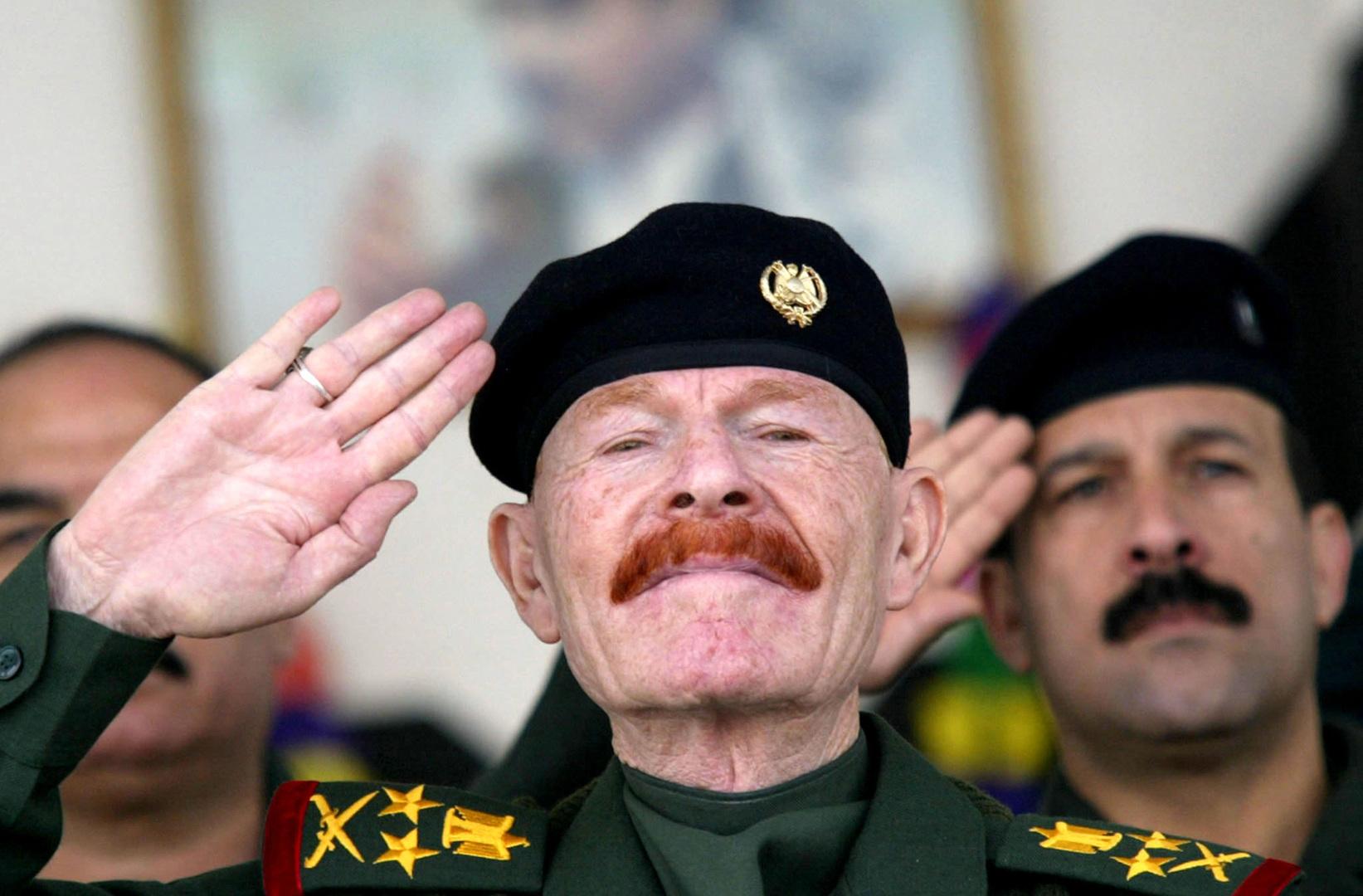 القيادي البارز في حزب البعث العراقي،الذي كان يشغل منصب نائب الرئيس في عهد صدام حسين،عزت الدوري.