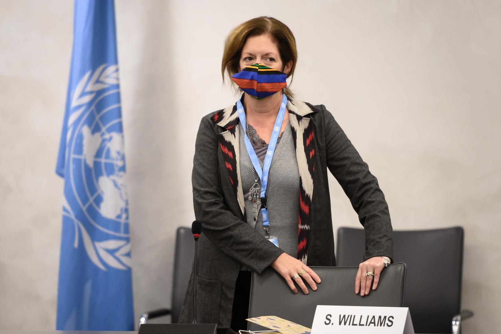 رئيسة بعثة الأمم المتحدة للدعم في ليبيا، بالإنابة، ستيفاني وليامز