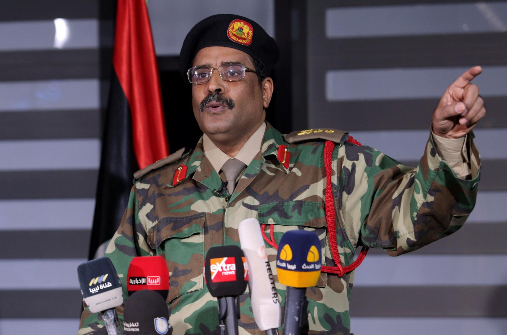 """المتحدث باسم """"الجيش الوطني الليبي""""، اللواء أحمد المسماري."""